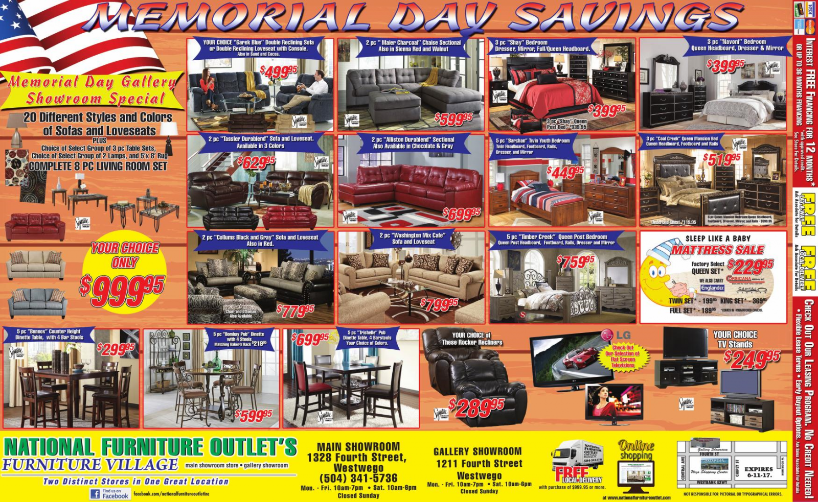 National Furniture Store Inc. is locally owned and operated, offering a large selection of quality furniture to Spokane, WA. We are a member of a store buying group, buying in large quantities and pass the savings on to you.