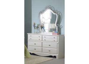 Spring Rose Dresser and Mirror